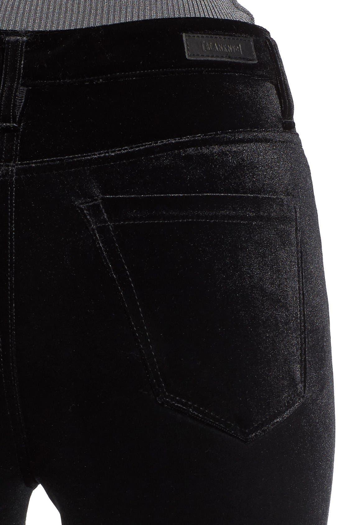 Alternate Image 4  - BLANKNYC Velvet High Rise Skinny Jeans