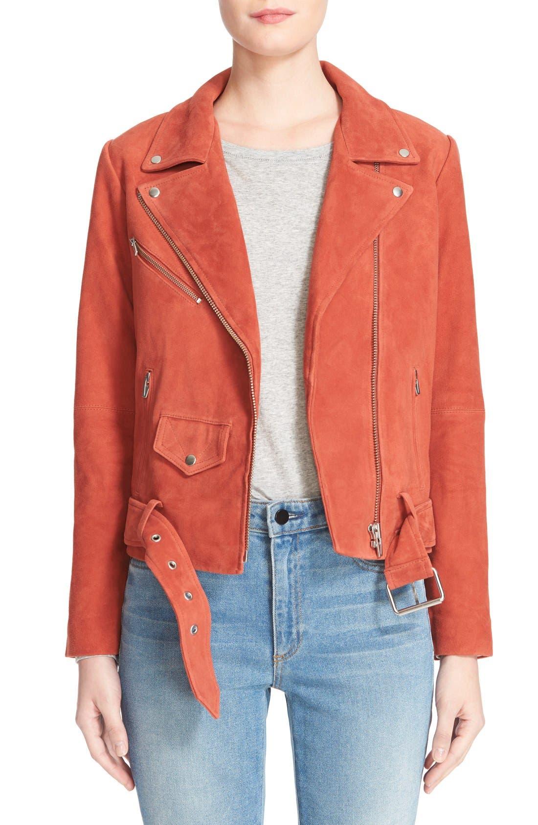 Alternate Image 1 Selected - Veda 'Jayne' Suede Moto Jacket