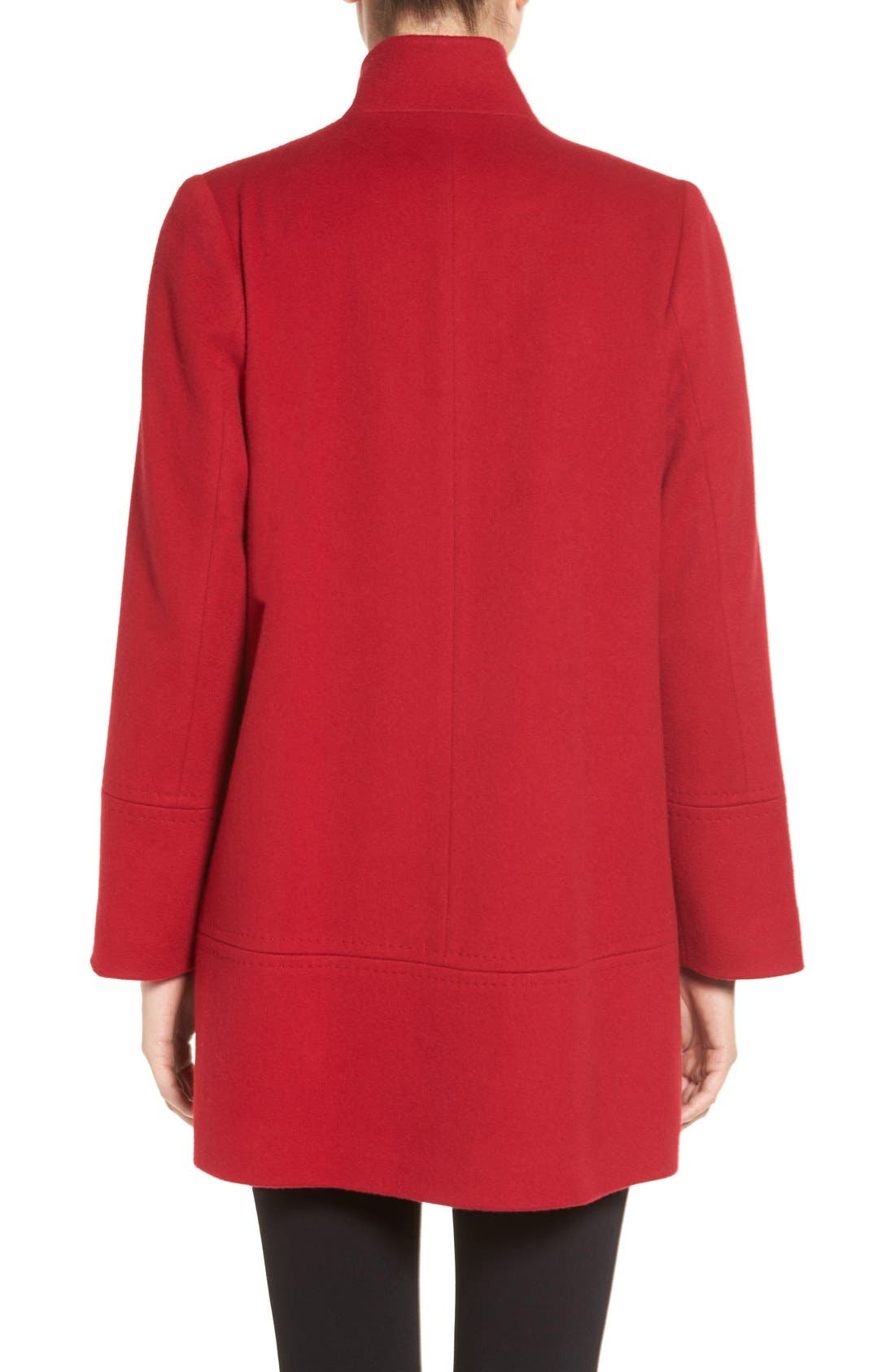 Alternate Image 3  - Fleurette Loro Piana Wool Car Coat (Regular & Petite) (Nordstrom Exclusive)