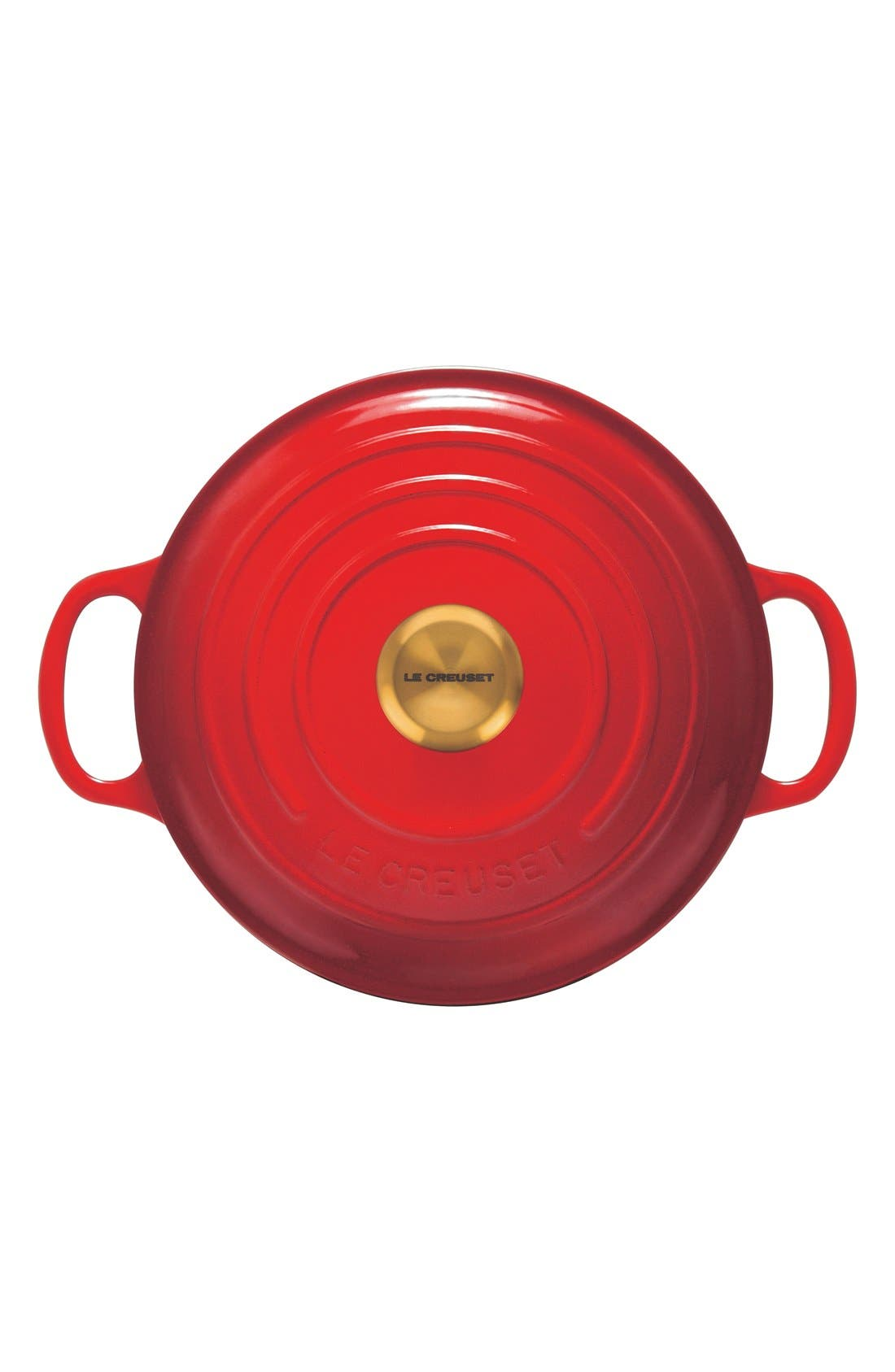 Gold Knob Collection 4 1/2 Quart Round French/Dutch Oven,                             Alternate thumbnail 2, color,                             Cherry/Cerise Gold