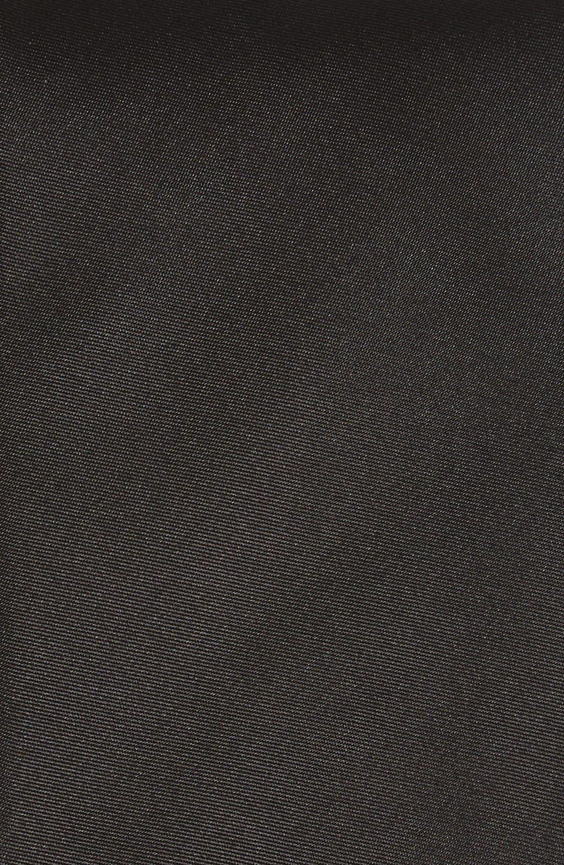 Solid Silk Skinny Tie,                             Alternate thumbnail 2, color,                             Black
