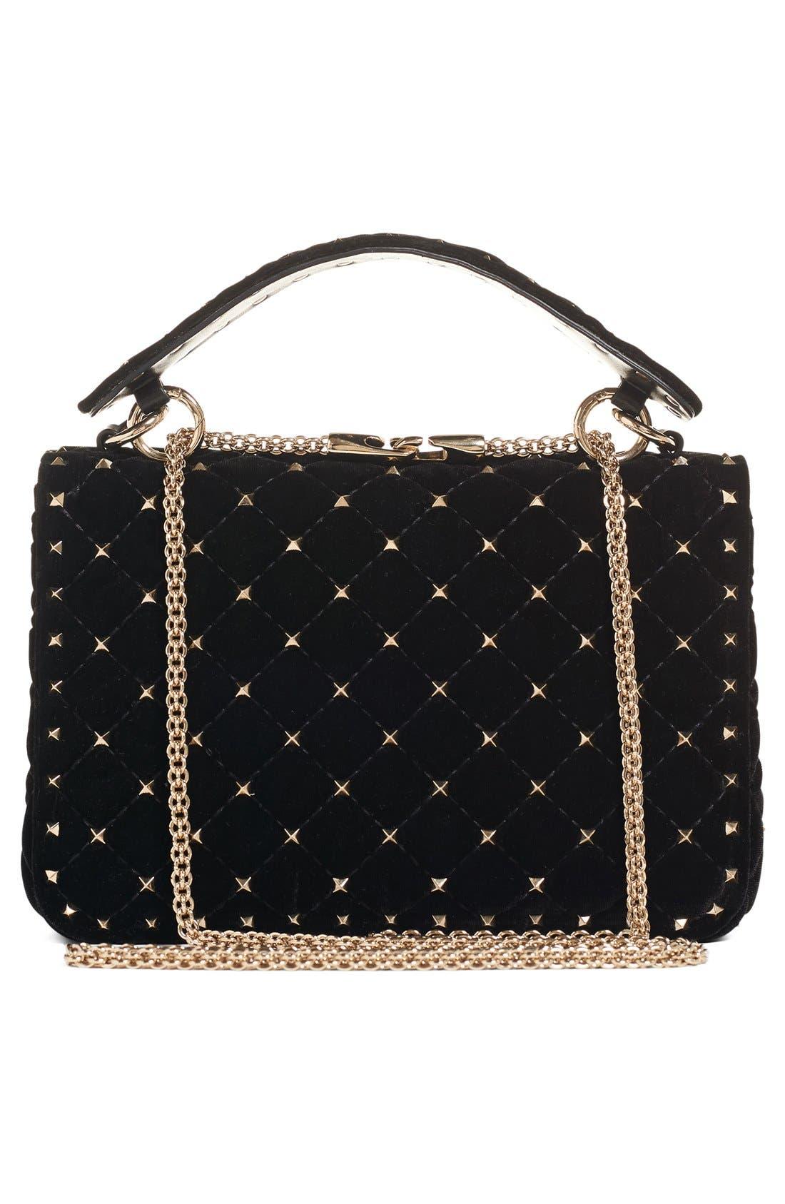 Alternate Image 2  - VALENTINO GARAVANI Rockstud Quilted Leather Shoulder Bag