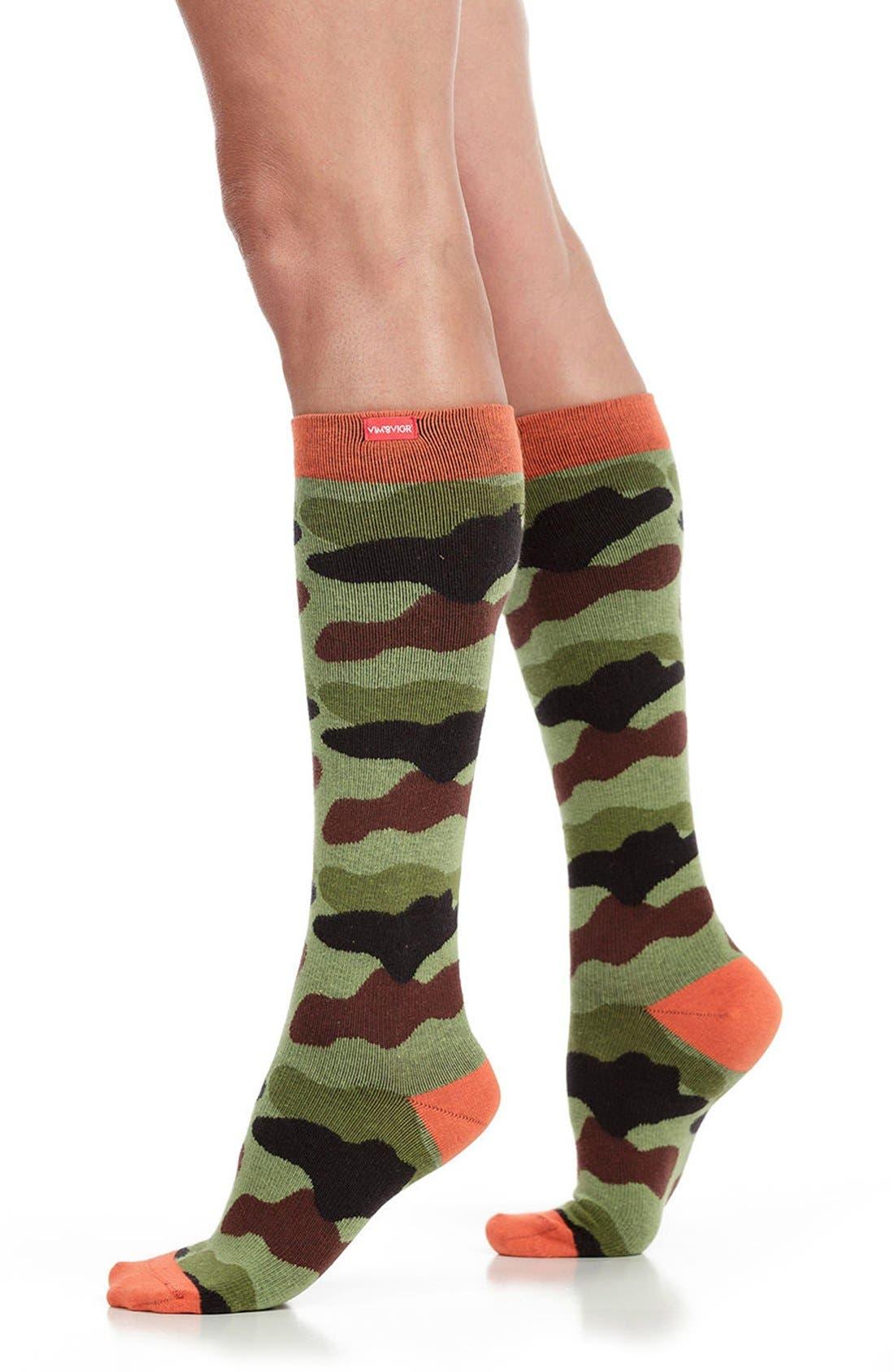 Alternate Image 1 Selected - VIM & VIGR Camouflage Compression Trouser Socks