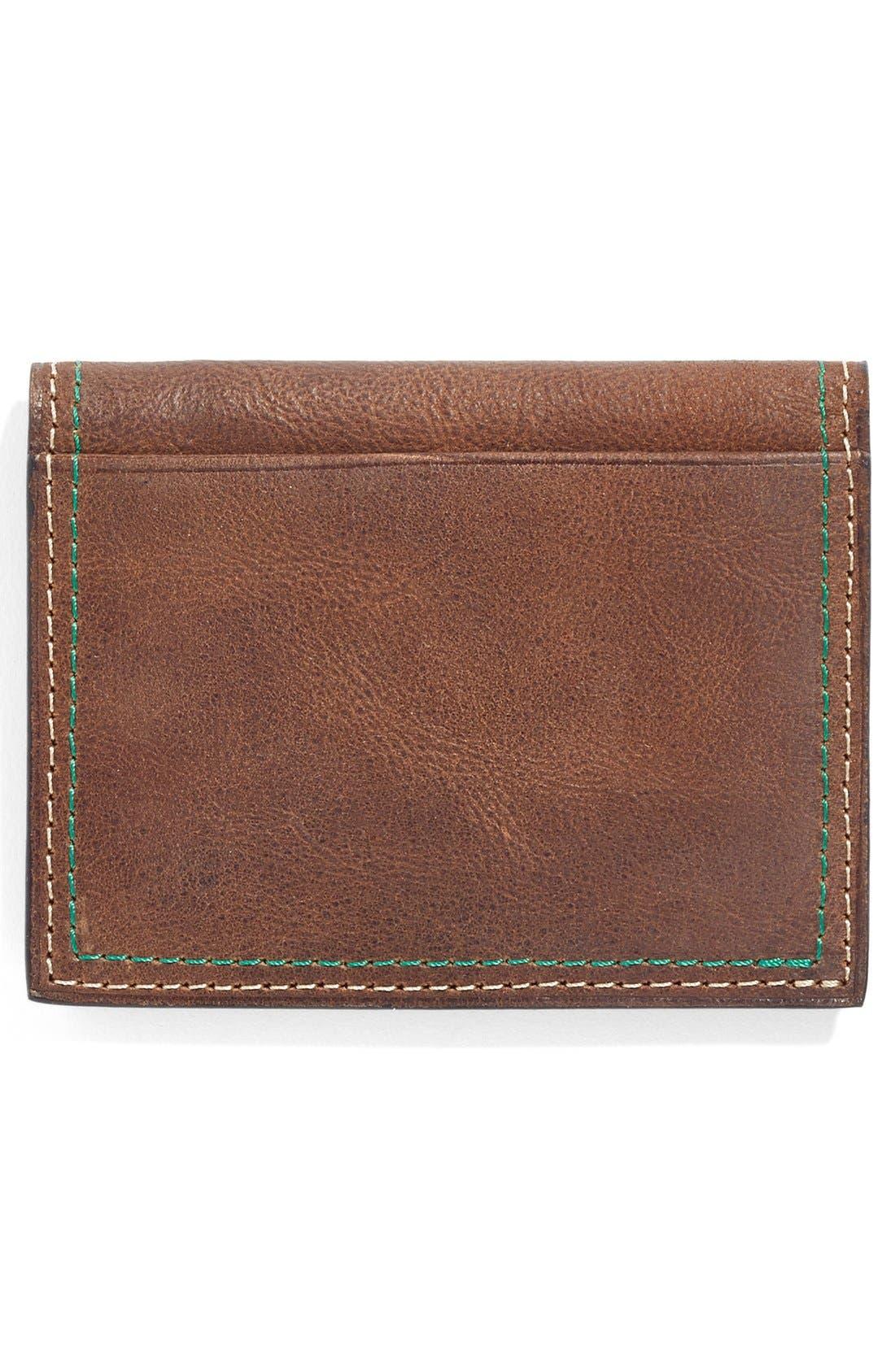 Water Buffalo Leather Card Case,                             Alternate thumbnail 3, color,                             Burnt Cedar