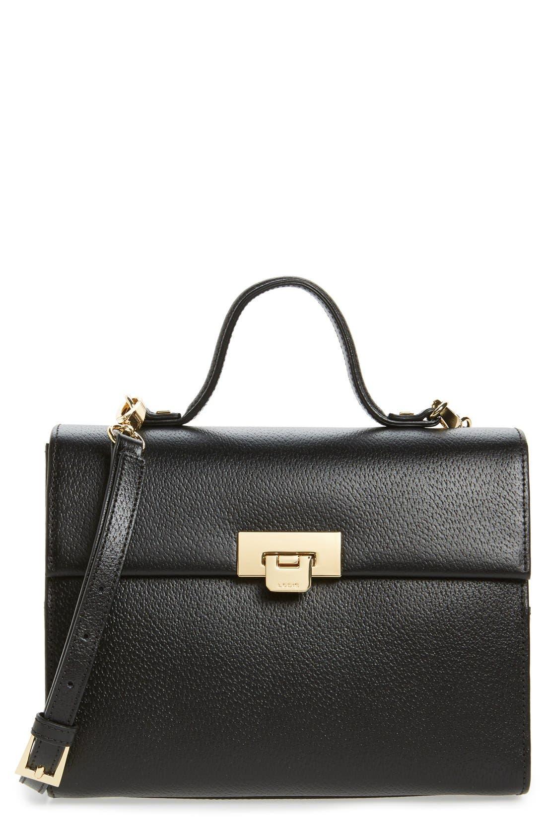 Alternate Image 1 Selected - Lodis Stephanie Under Lock & Key - Medium Bree Leather Crossbody Bag