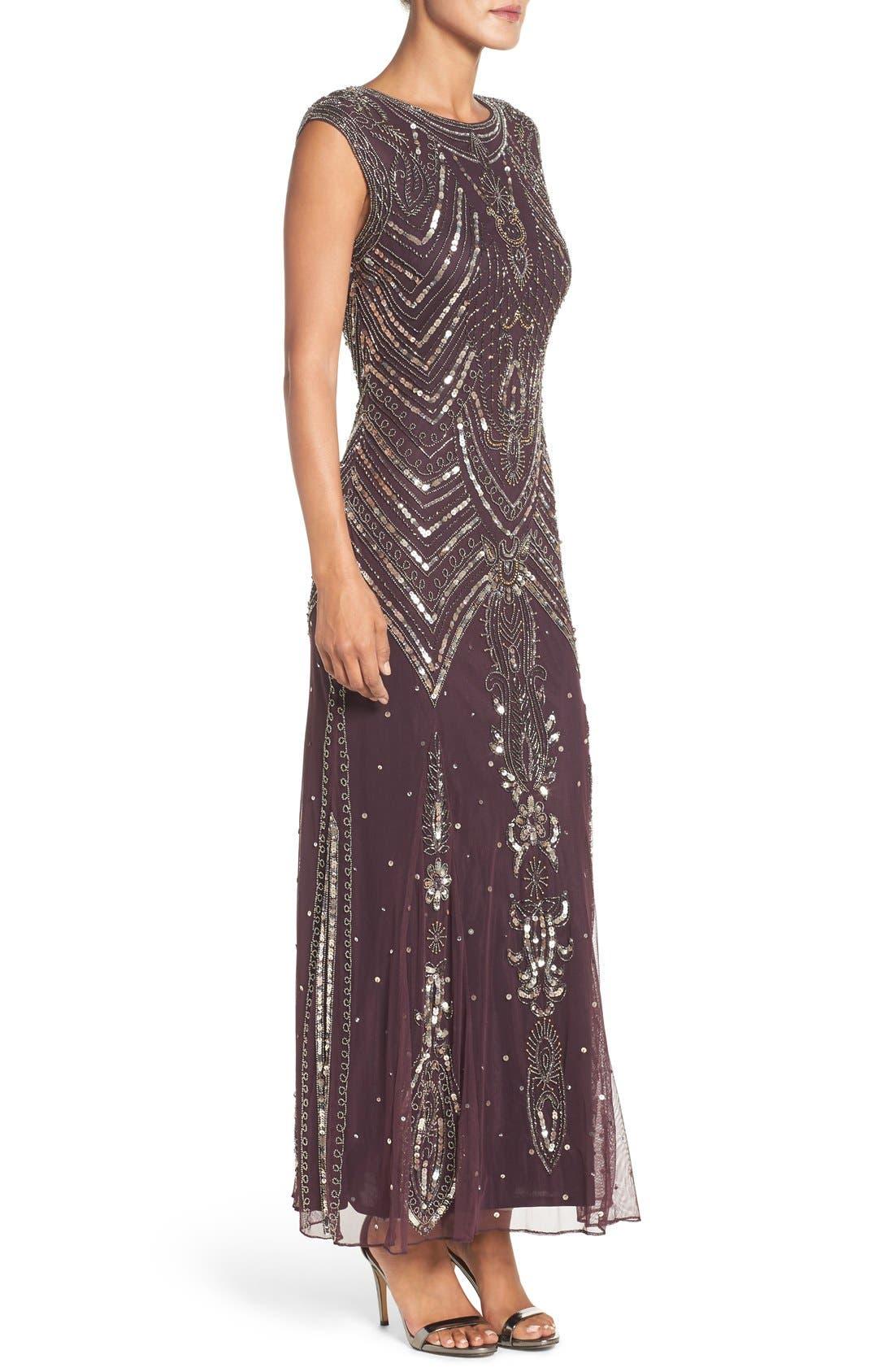 Alternate Image 3  - Pisarro Nights Embellished Gown (Regular & Petite)