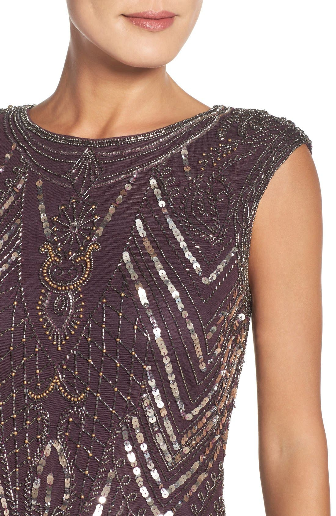 Alternate Image 4  - Pisarro Nights Embellished Gown (Regular & Petite)