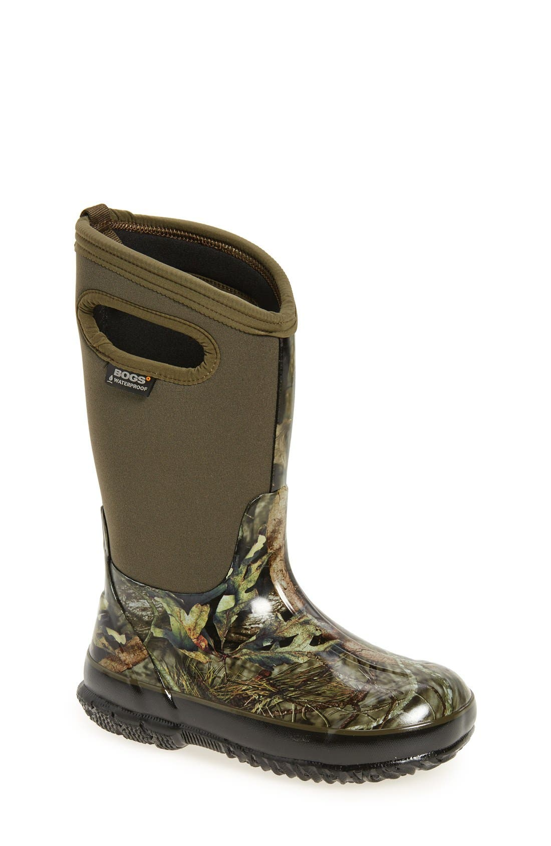 Classic Camo Insulated Waterproof Boot,                             Main thumbnail 1, color,                             Mossy Oak