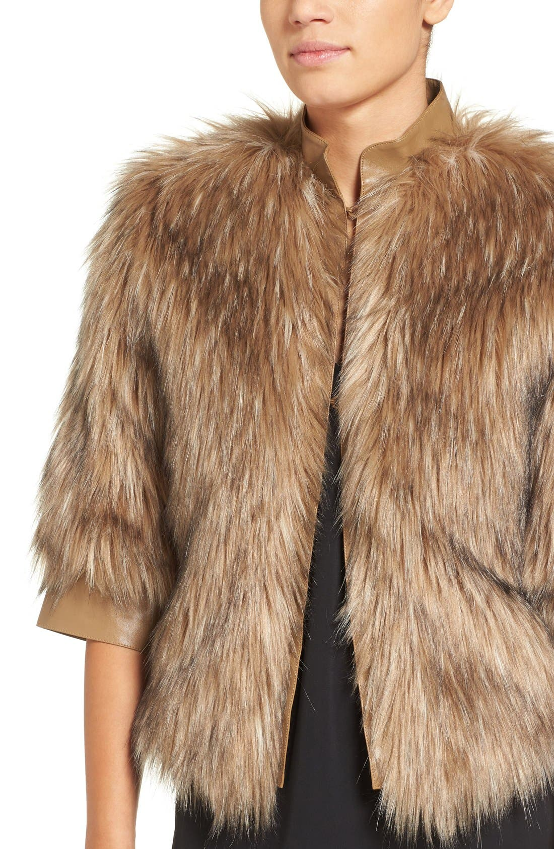 Alternate Image 4  - Love Token Faux Fur Jacket