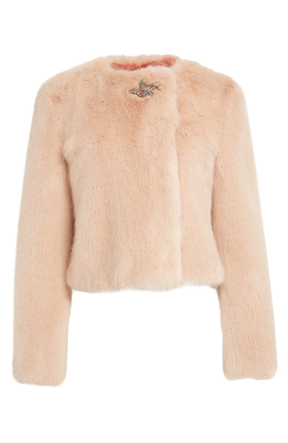 Alternate Image 4  - Shrimps Muffin Faux Fur Jacket