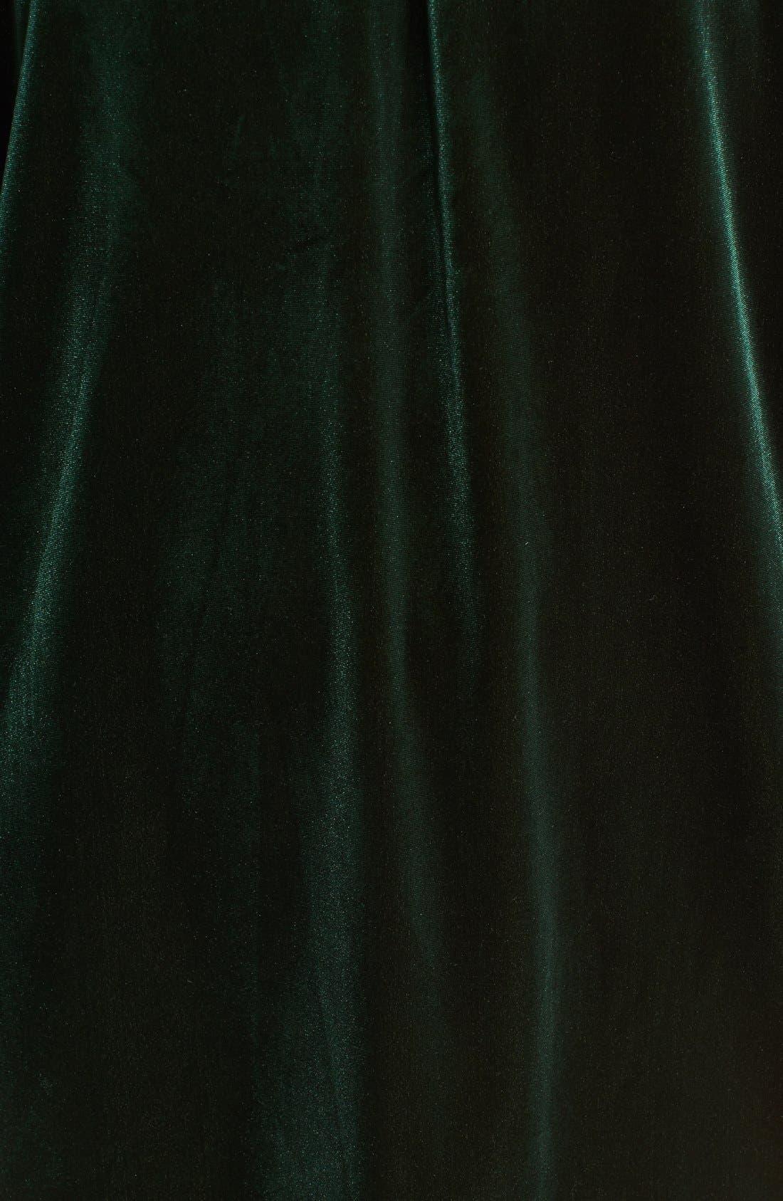Alternate Image 5  - One Clothing Off the Shoulder Velvet Swing Dress