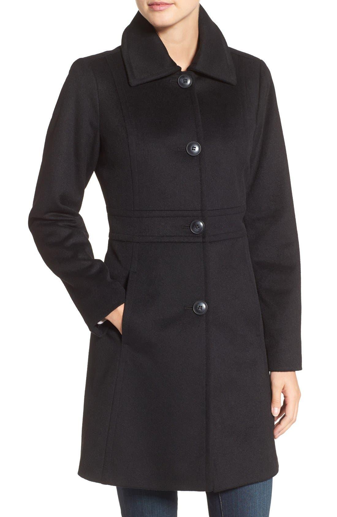 Alternate Image 4  - Kristen Blake Wool Blend Walking Coat (Regular & Petite)
