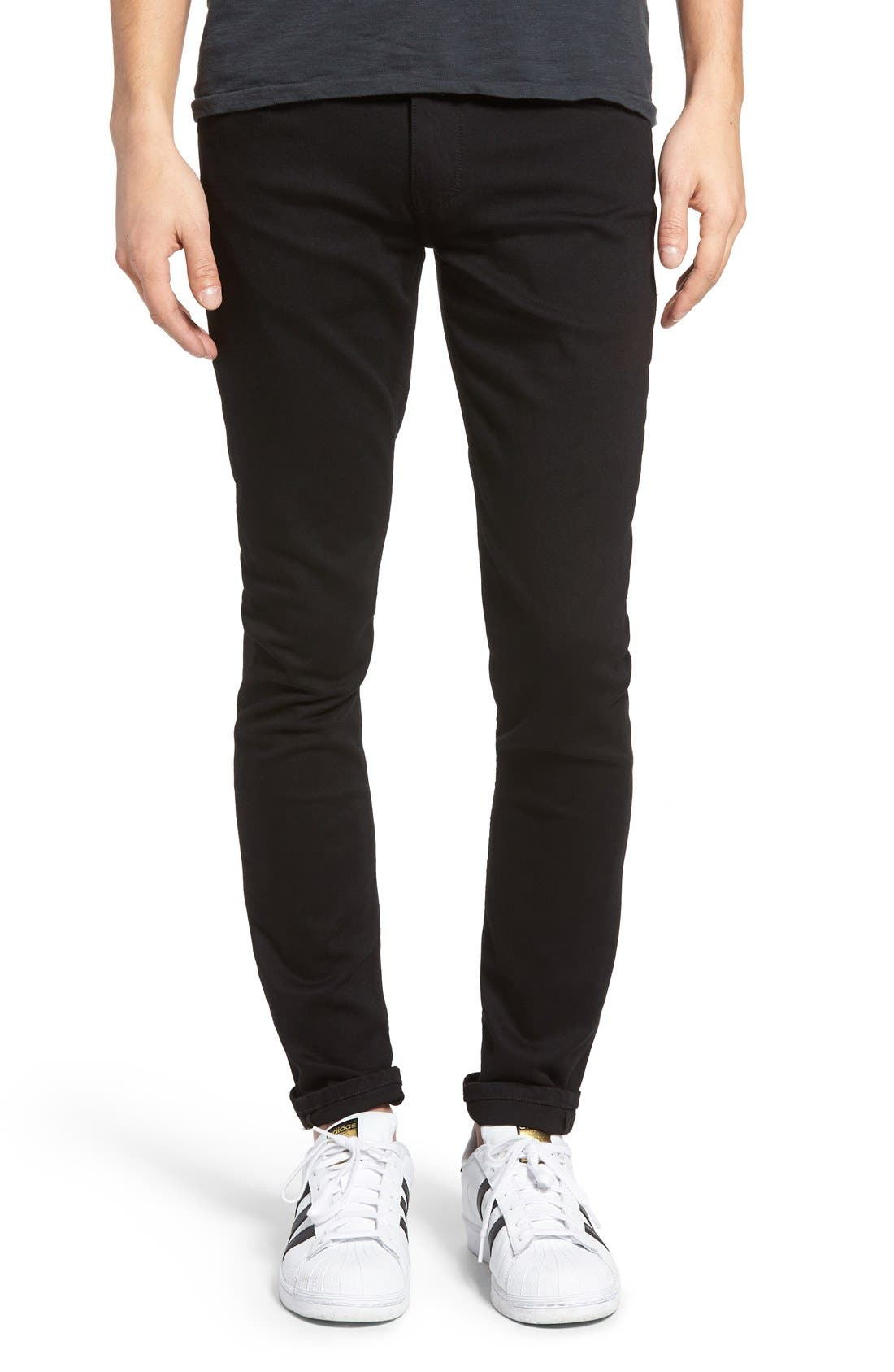 PAIGE Transcend - Croft Skinny Fit Jeans (Black Shadow)