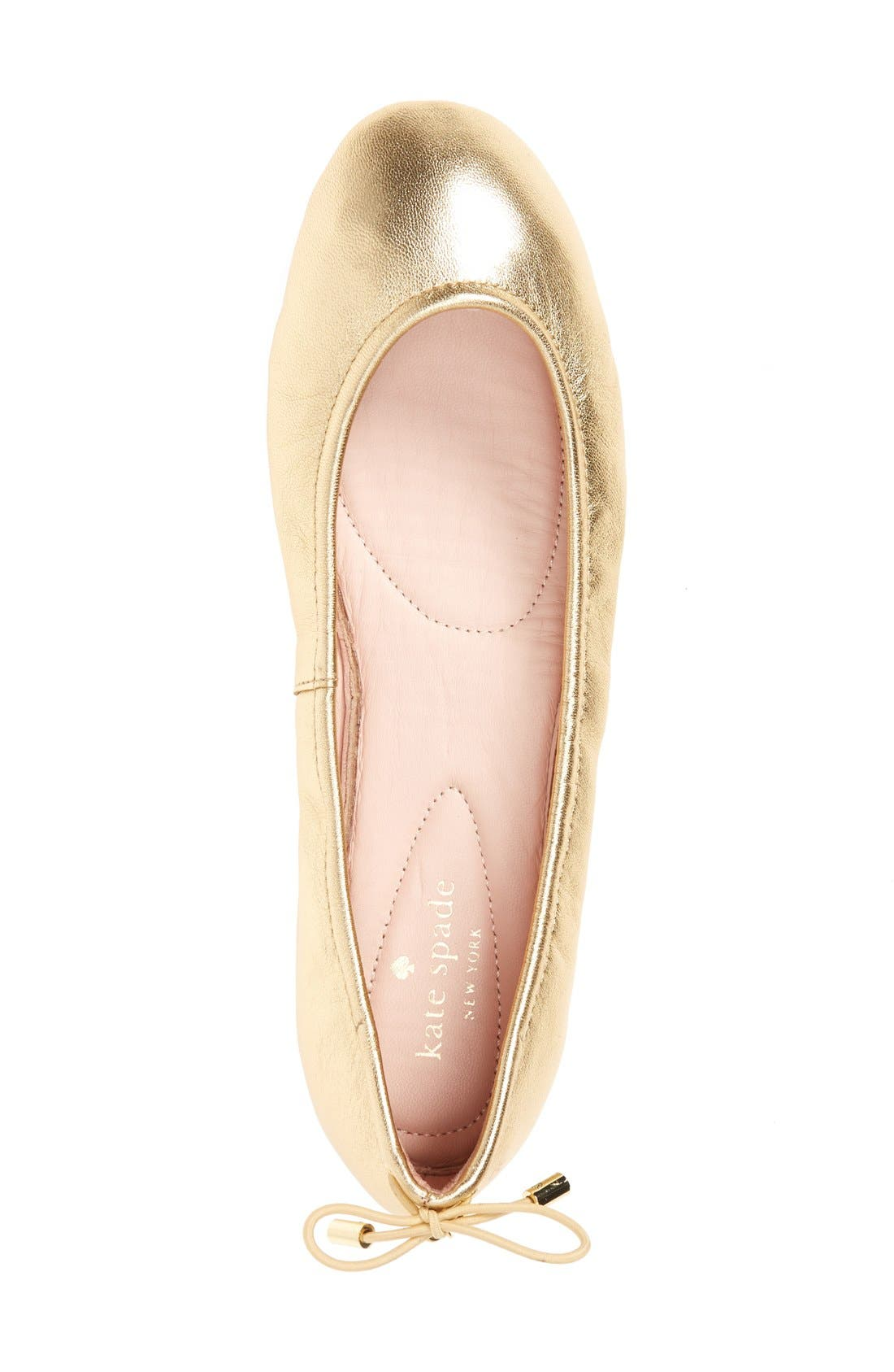 Alternate Image 3  - kate spade new york globe foldable ballet flat (Women)