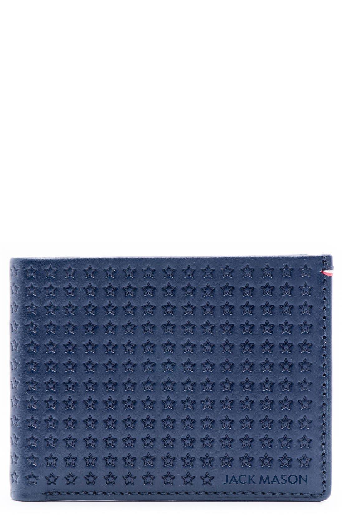 JACK MASON Star Leather Bifold Wallet