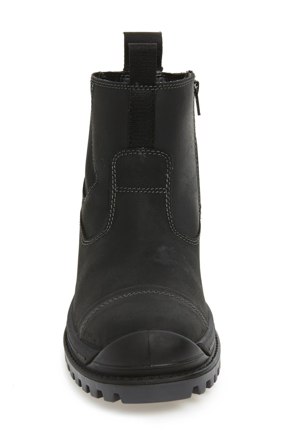 Griffon Snow Boot,                             Alternate thumbnail 3, color,                             Black Leather