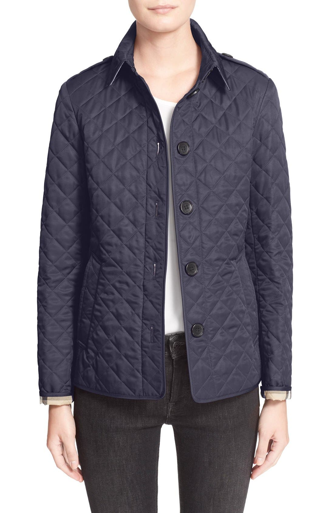 Ashurst Quilted Jacket,                             Main thumbnail 1, color,                             Navy
