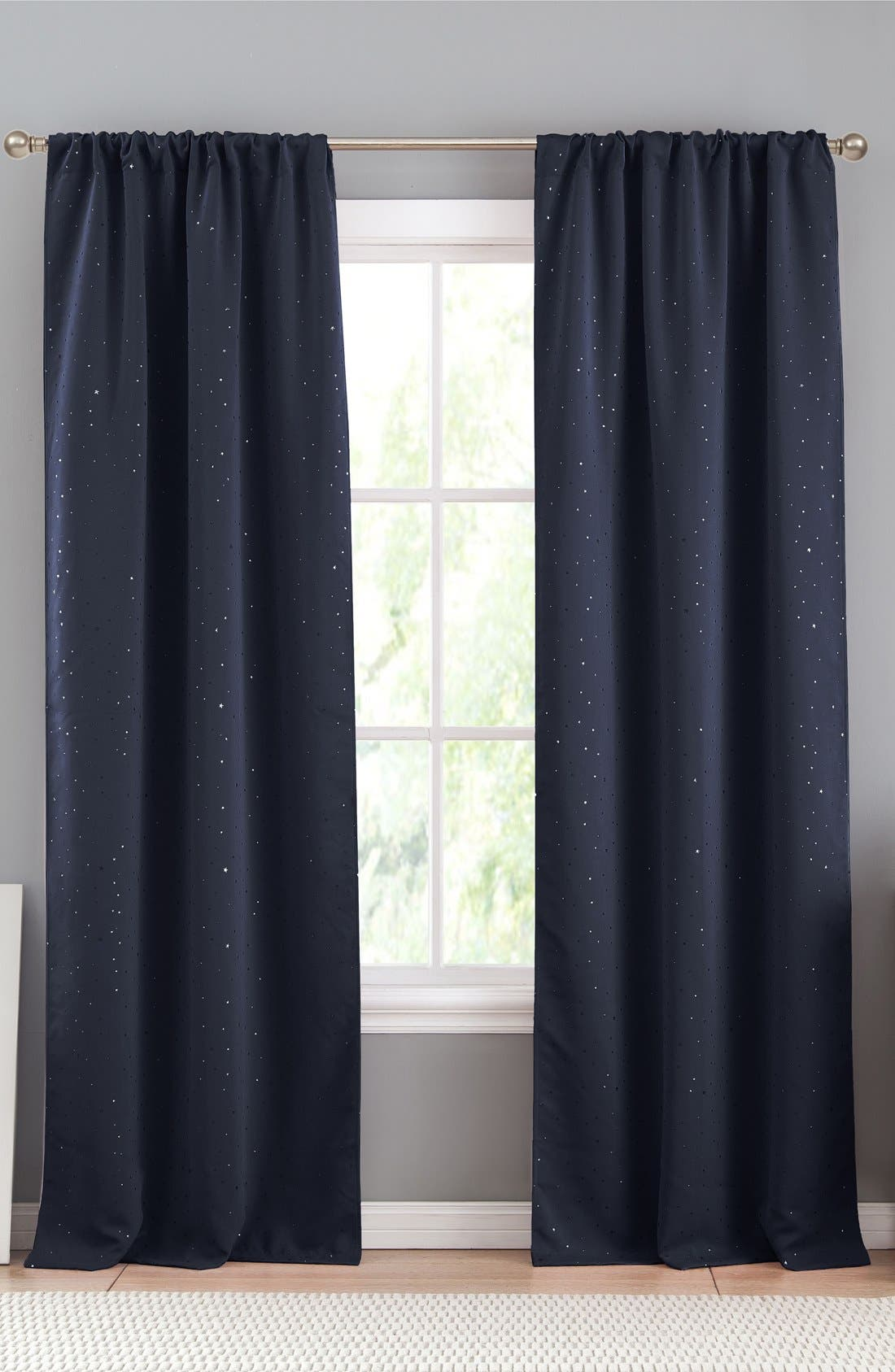 Davis Blackout Window Panels,                         Main,                         color, Navy