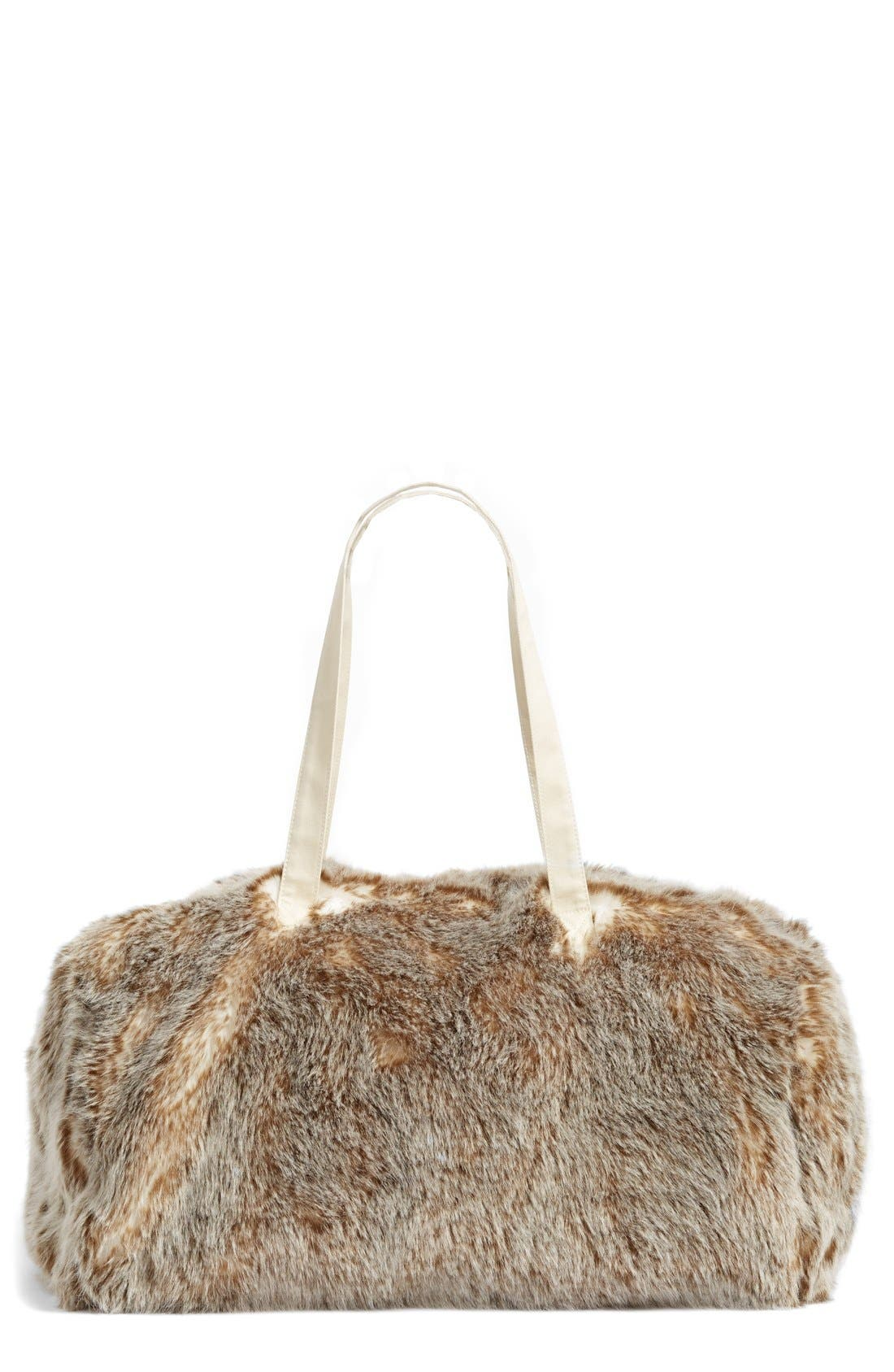 Main Image - Nordstrom at Home Cuddle Up Faux Fur Duffel Bag