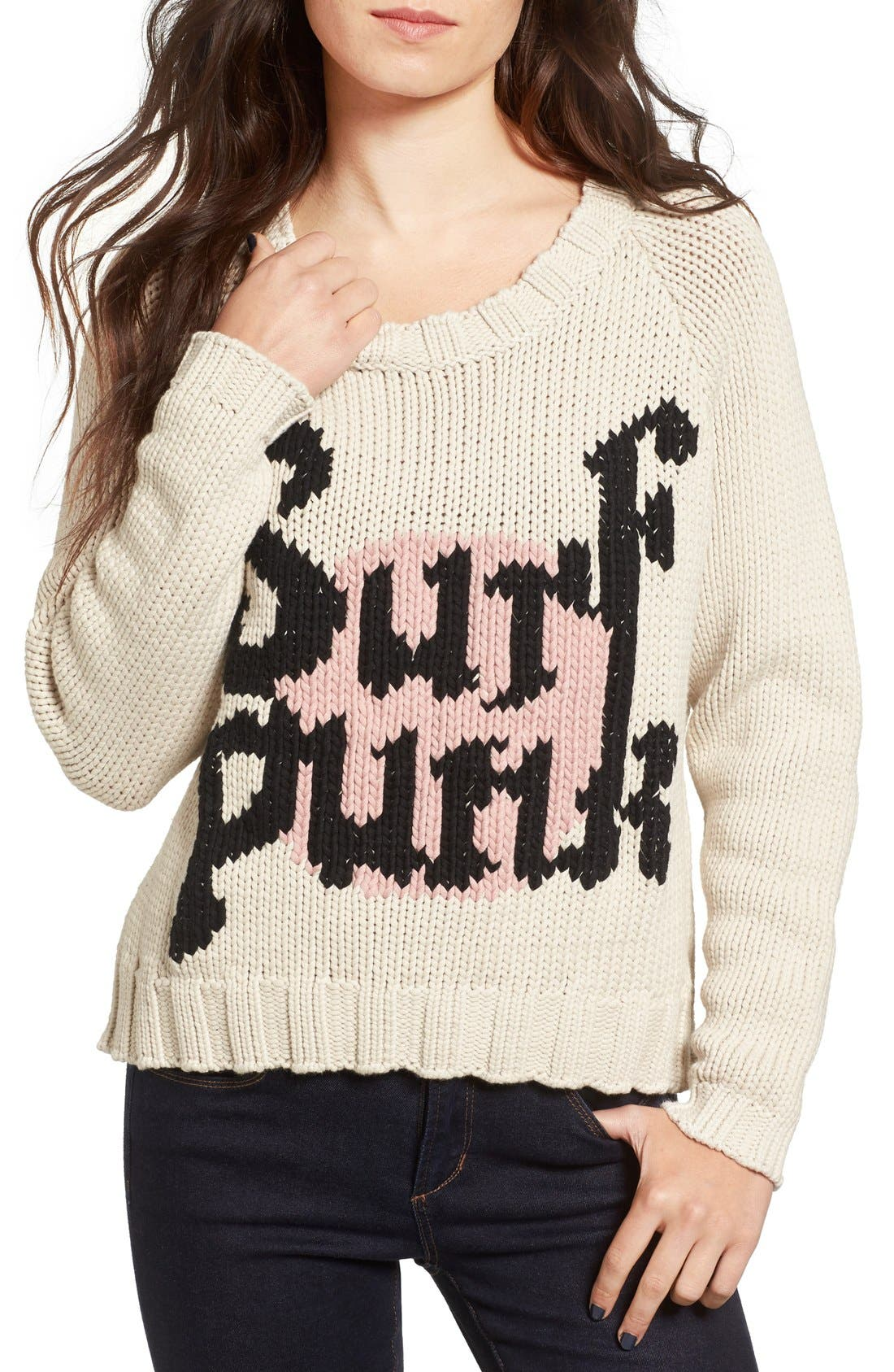 Alternate Image 1 Selected - One Teaspoon Surf Punk Intarsia Knit Sweater