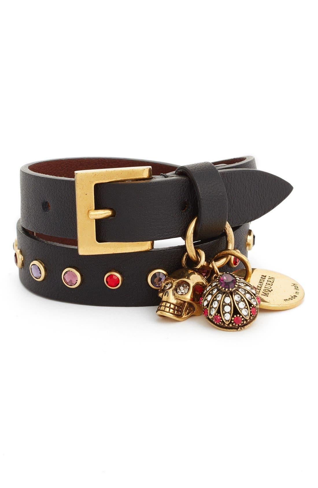 Alternate Image 1 Selected - Alexander McQueen Charm Wrap Bracelet