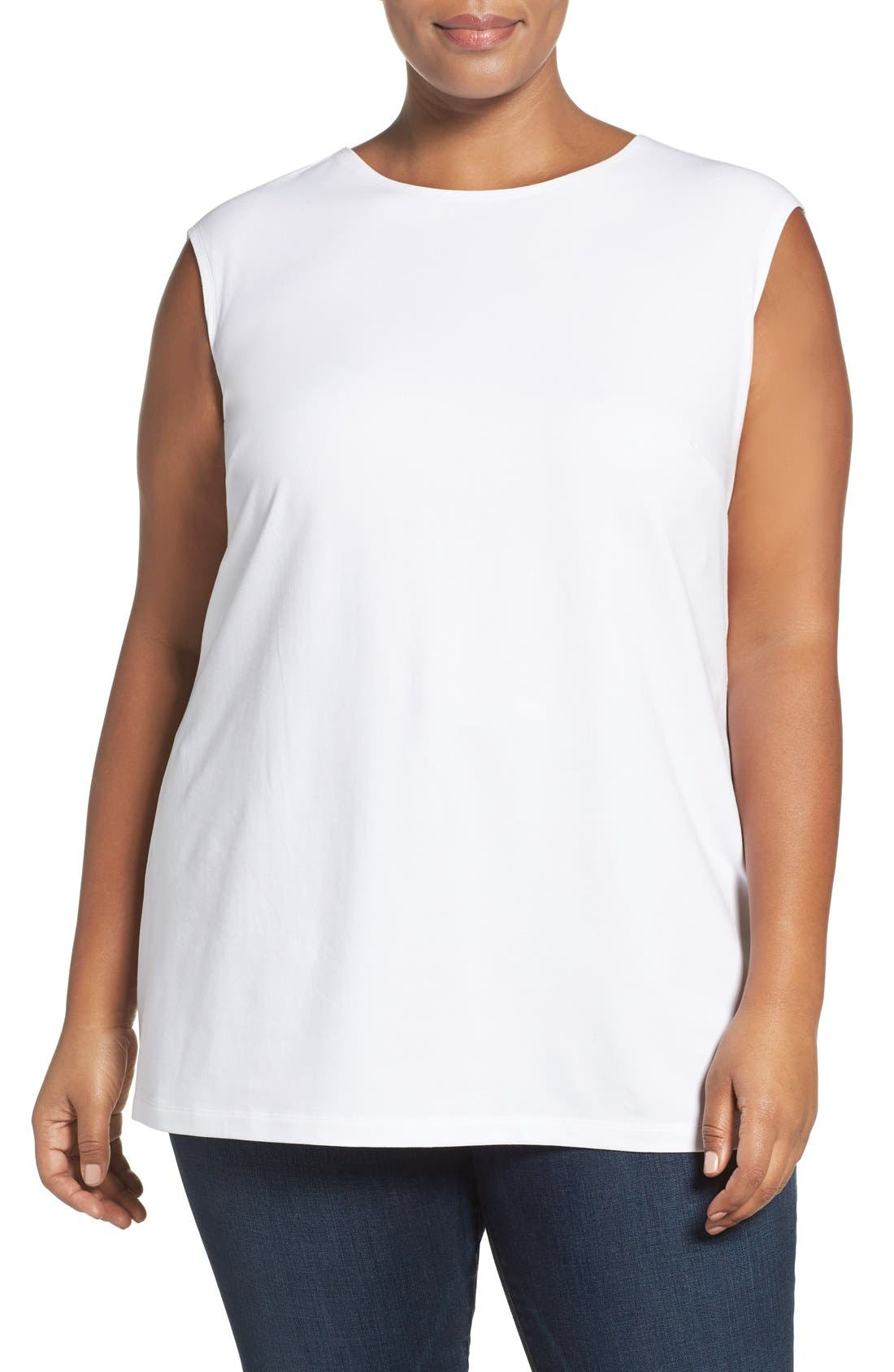 'Perfect Layer' Tank,                         Main,                         color, Paper White