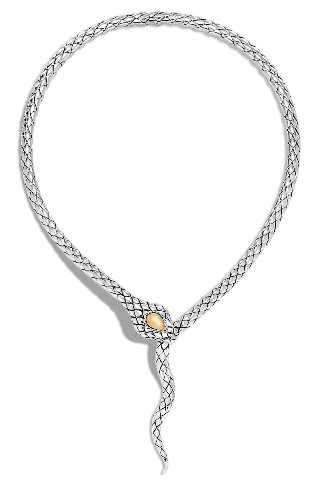 Legends Drop Necklace,                         Main,                         color, Silver/ Gold