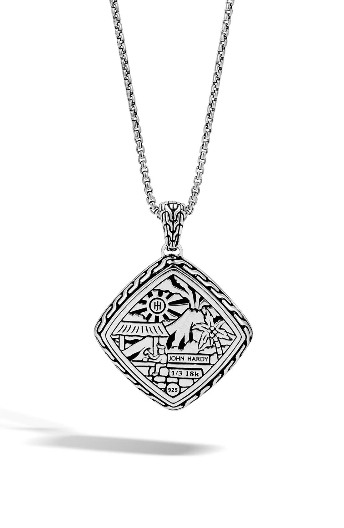 Alternate Image 2  - John Hardy Heritage Quadrangle Pendant Necklcace