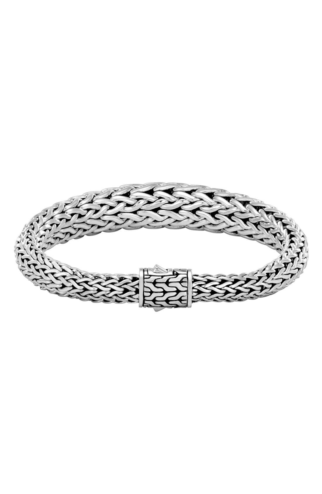 Classic Chain 11mm Graduated Bracelet,                             Main thumbnail 1, color,                             Silver