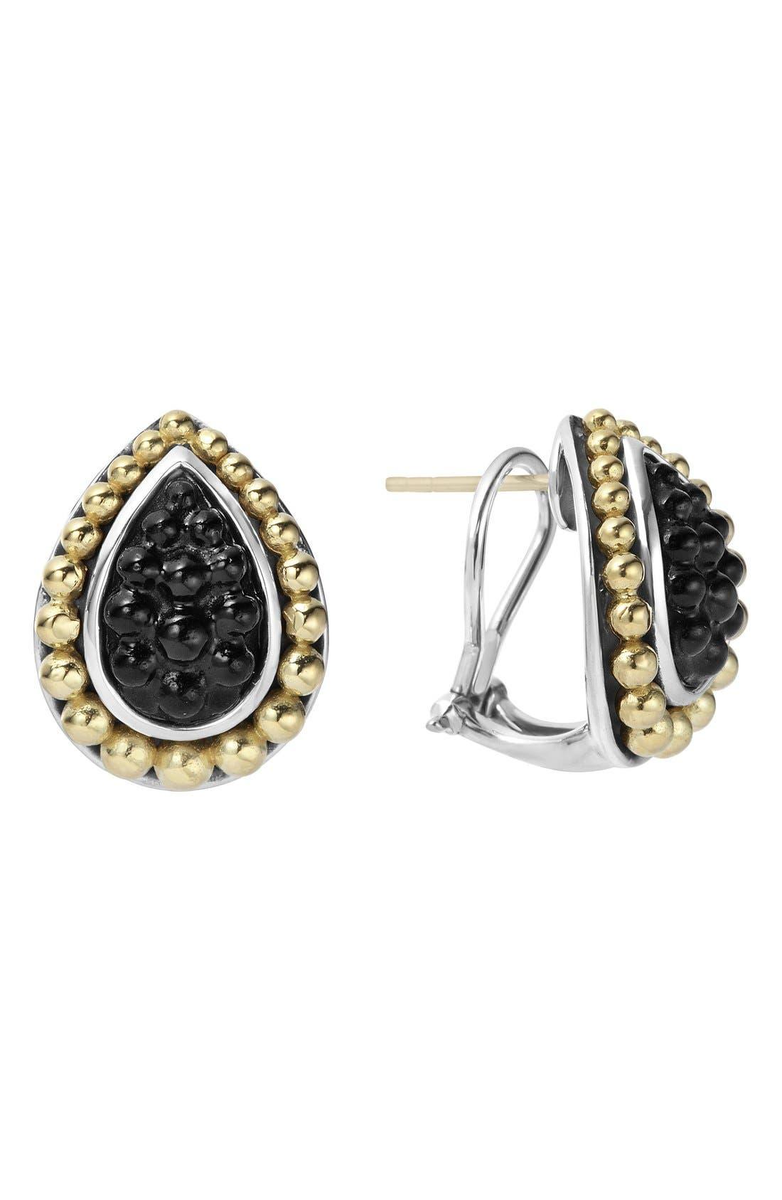 LAGOS Black Caviar Stud Earrings