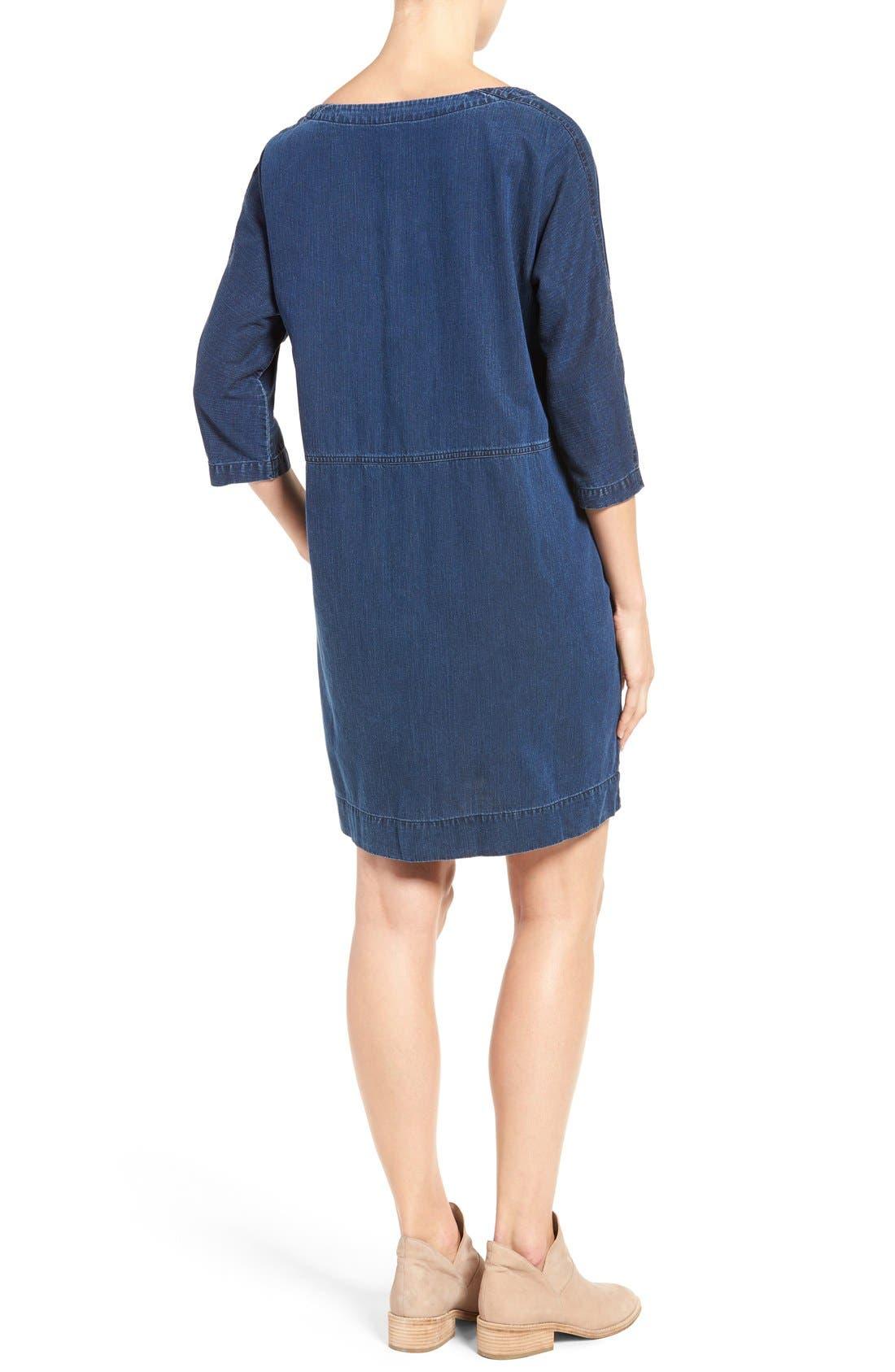 Alternate Image 3  - Eileen Fisher Denim Shift Dress