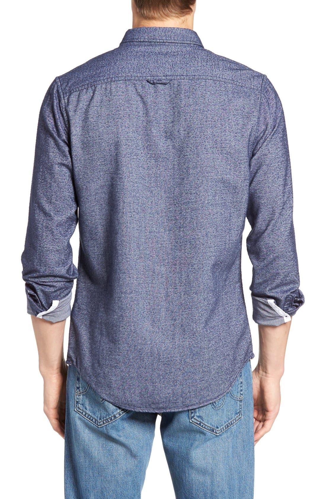 Alternate Image 2  - 1901 Baker Trim Fit Oxford Shirt