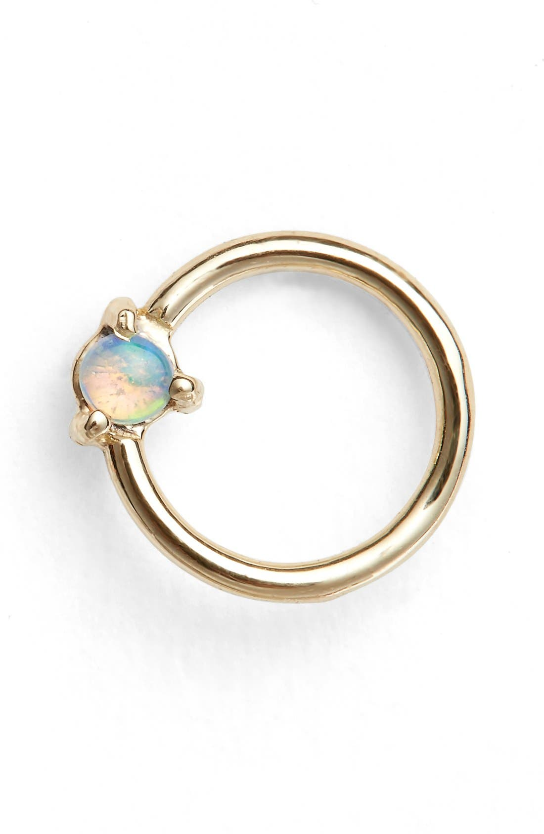 Alternate Image 1 Selected - WWAKE Small Opal Circle Earring