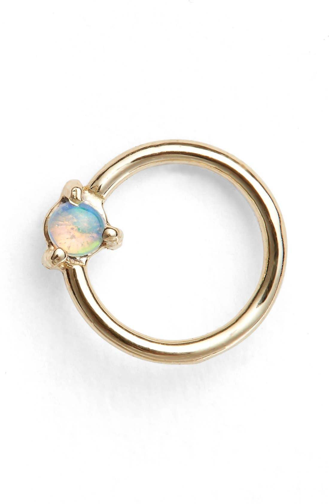 WWAKE Small Opal Circle Earring