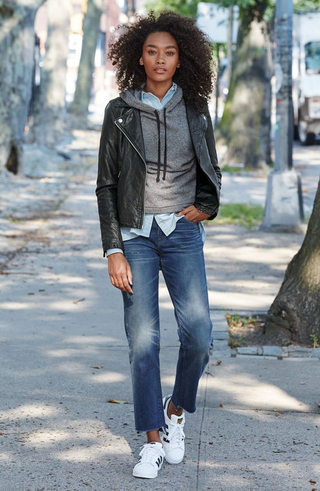Alternate Image 4  - Madewell Washed Leather Moto Jacket