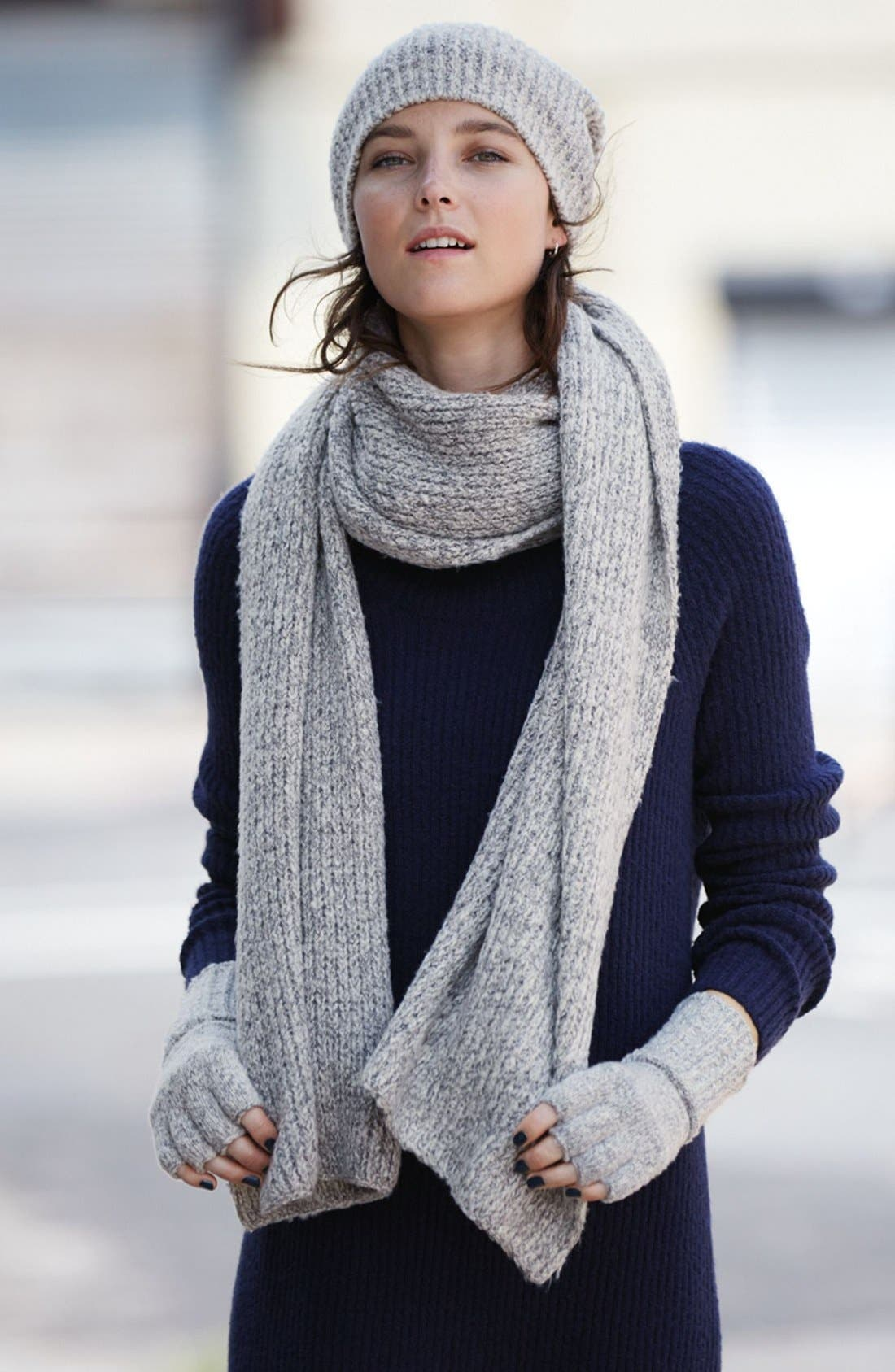 Alternate Image 3  - Caslon® Rib Knit Scarf