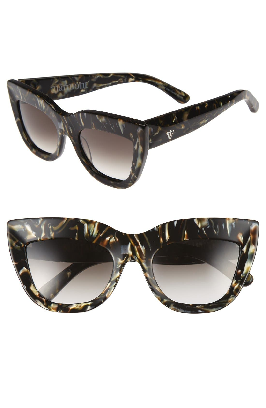 Alternate Image 1 Selected - VALLEY Marmont 52mm Cat Eye Sunglasses