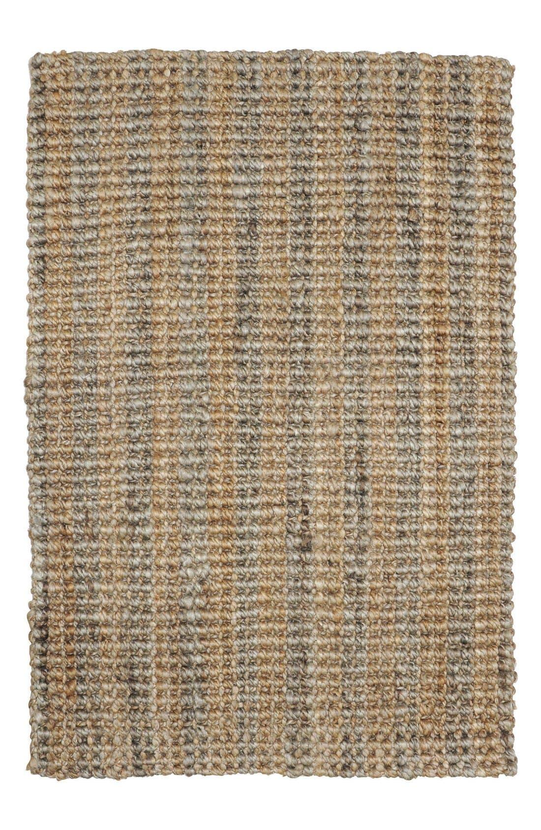 Bouclé Handwoven Rug,                         Main,                         color, Natural/ Grey