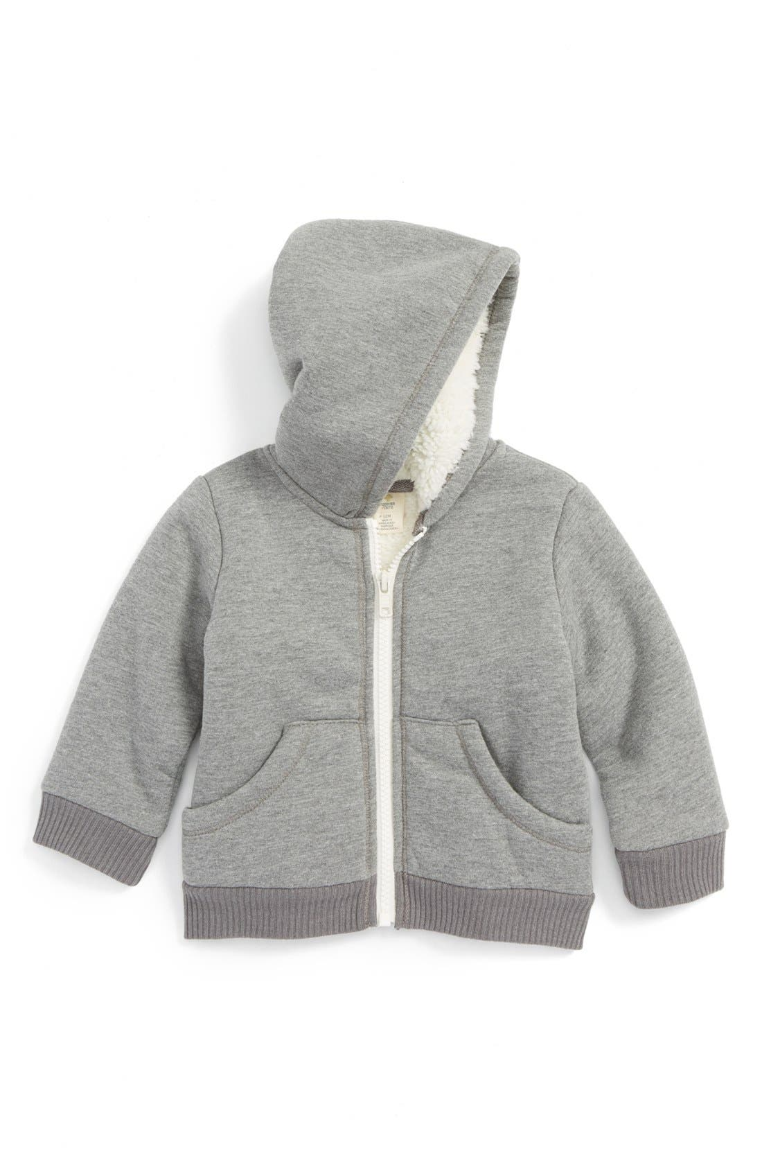 Fuzzy Lined Jacket,                             Main thumbnail 1, color,                             Grey Cloudy Heather