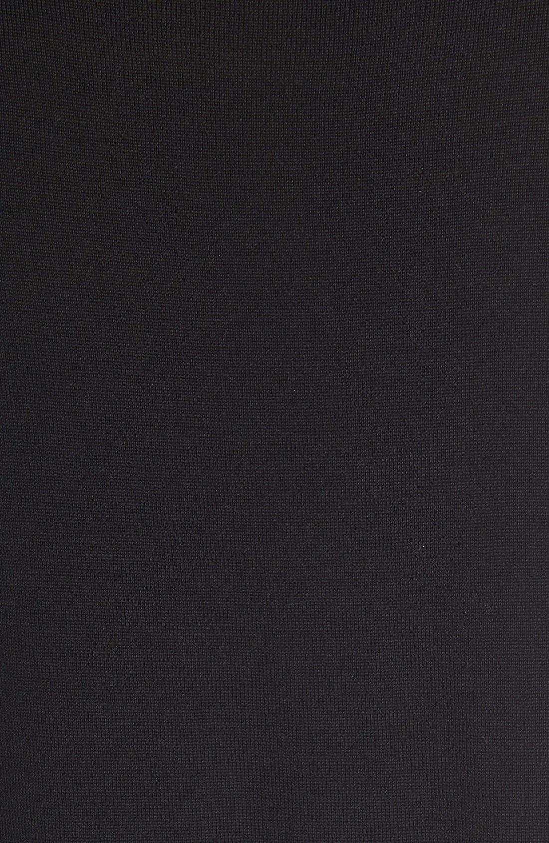Superfine Merino Wool Sweater,                             Alternate thumbnail 3, color,                             Black