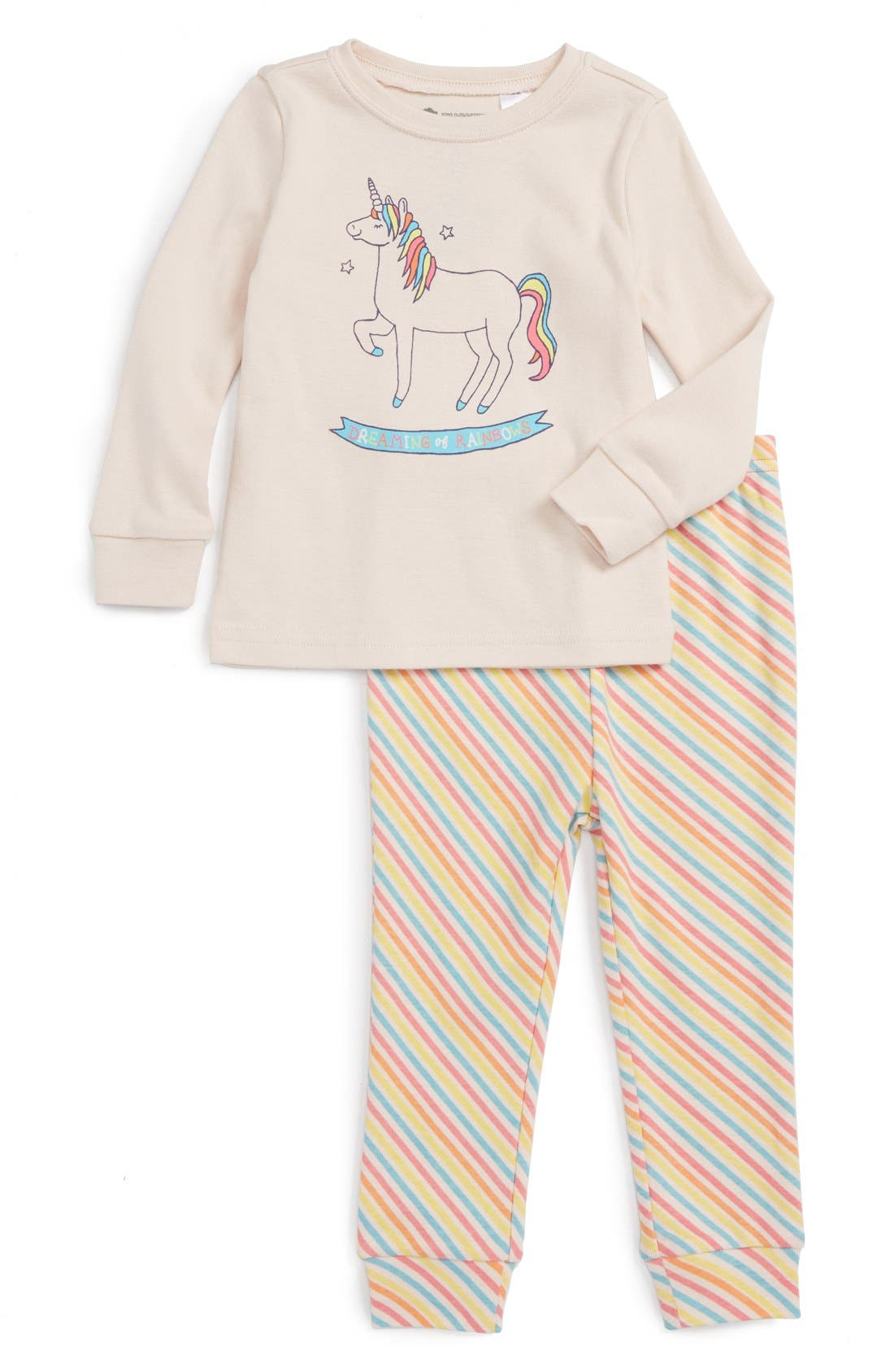 Main Image - Tucker + Tate Fitted Two-Piece Pajamas (Baby Girls)