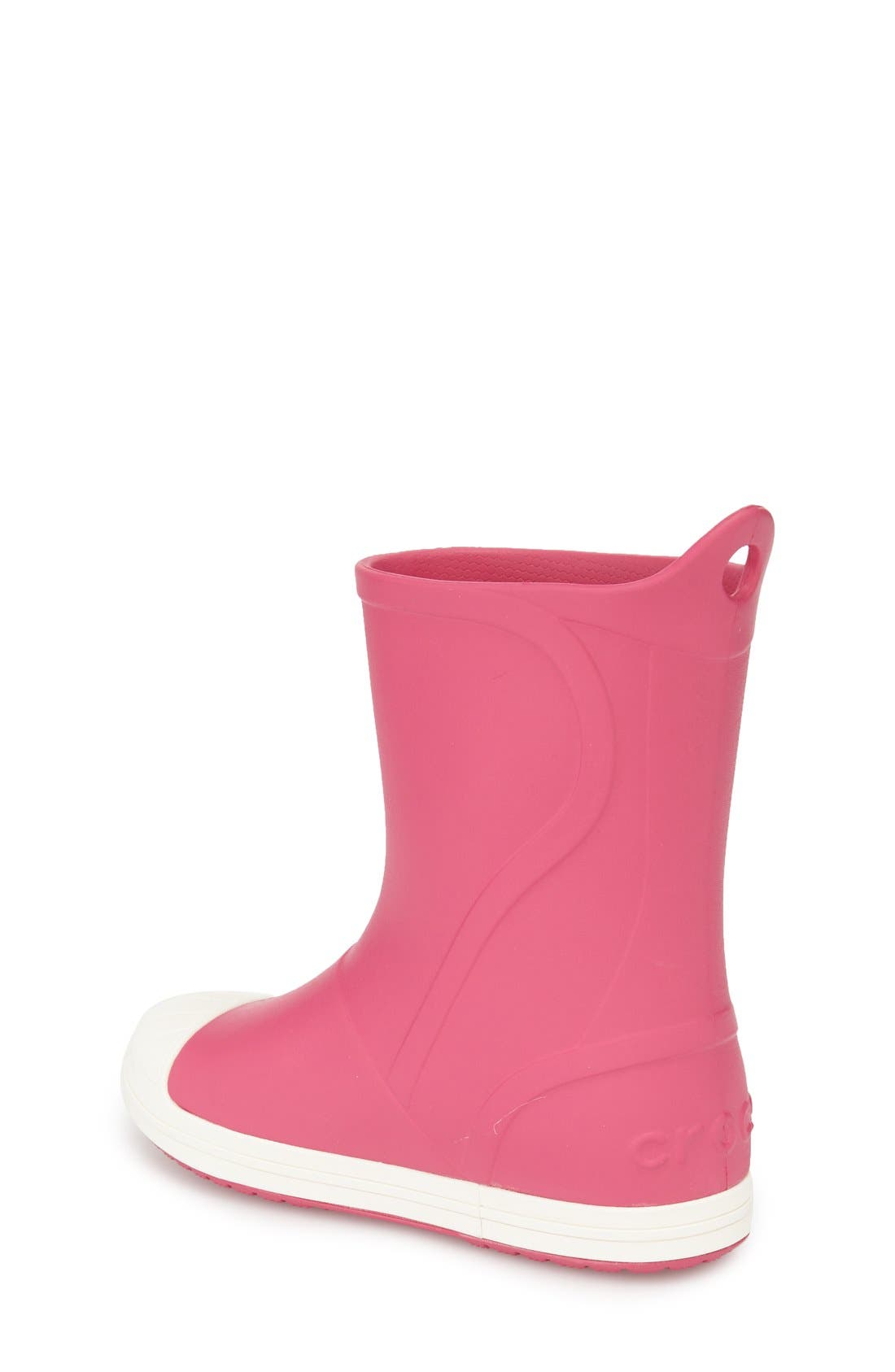 Bump It Waterproof Rain Boot,                             Alternate thumbnail 2, color,                             Candy Pink/ Oyster