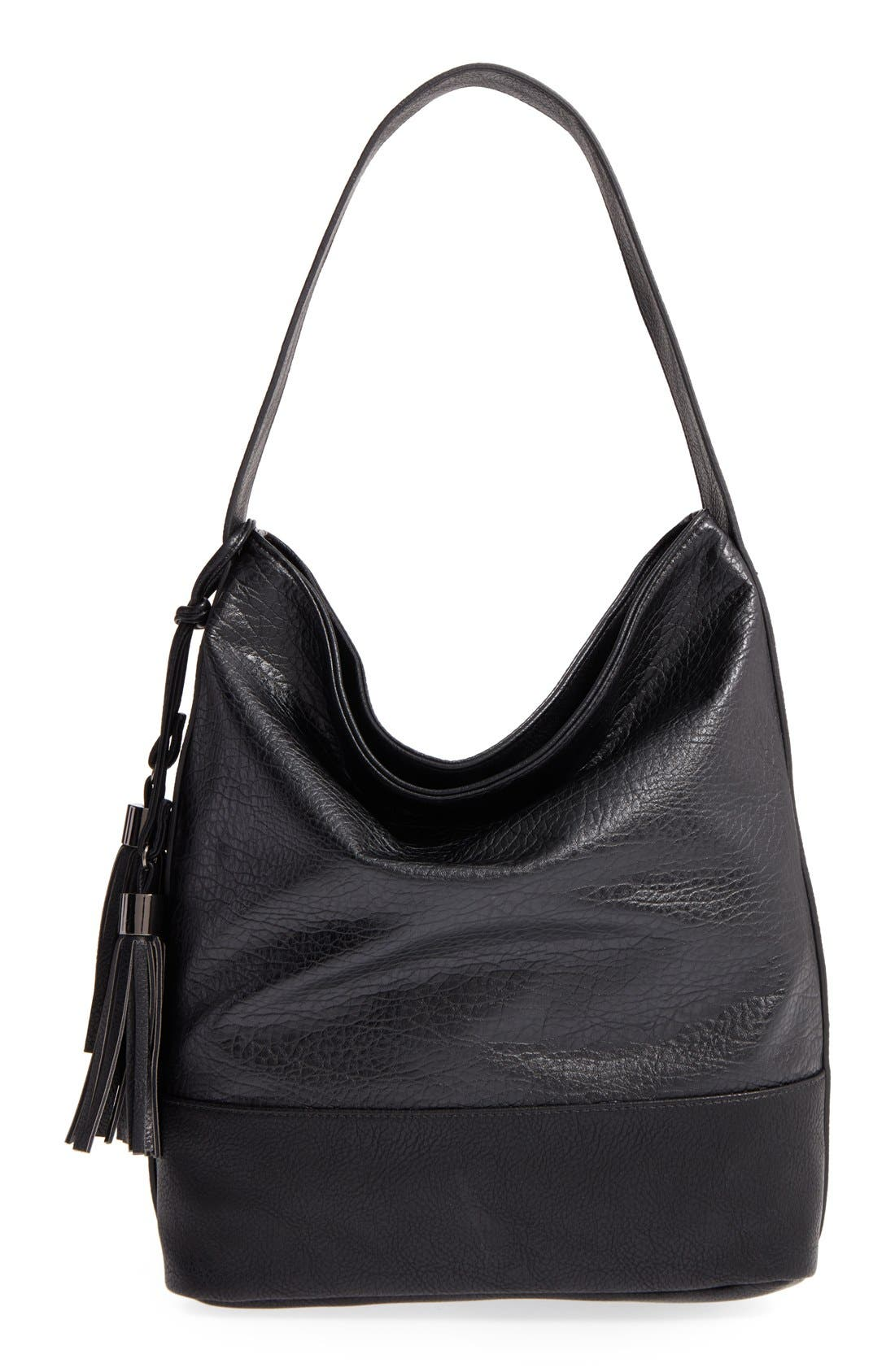 Main Image - POVERTY FLATS by rian Faux Leather Hobo