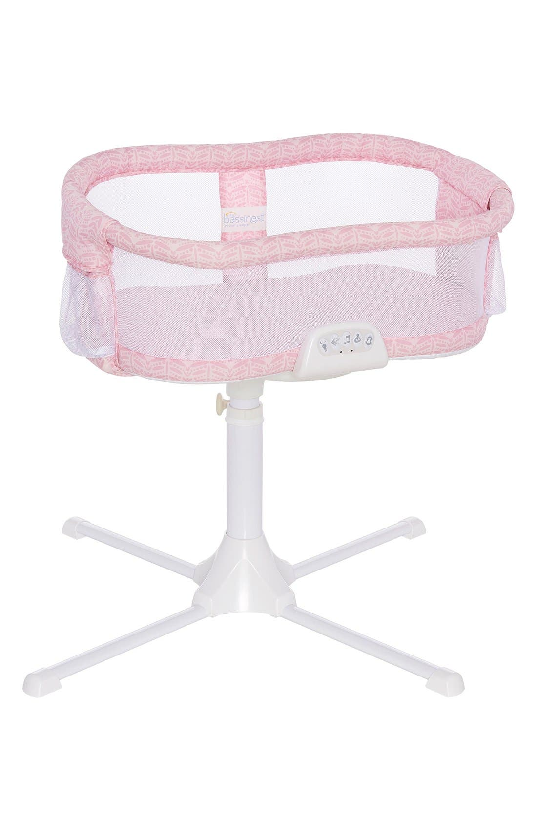 Halo Innovations Bassinest<sup>™</sup> Bedside Swivel Sleeper,                             Main thumbnail 1, color,                             Pink Fern