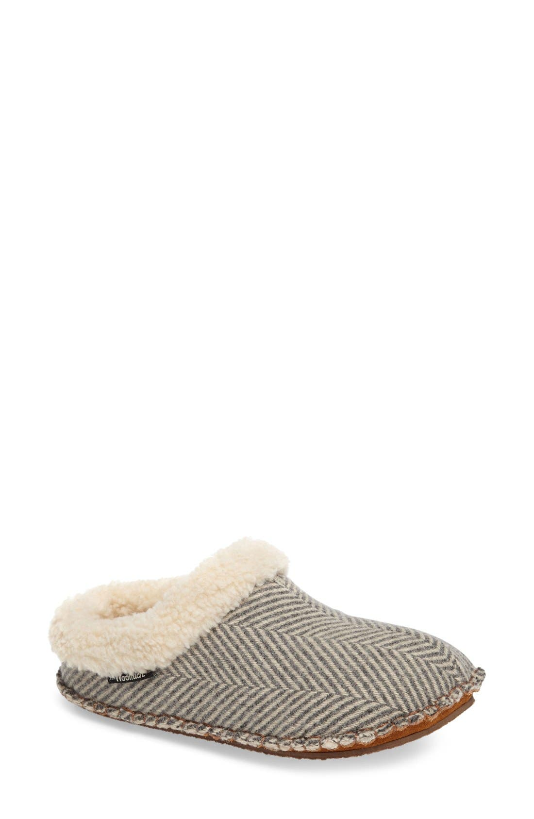 Lodge Slipper,                         Main,                         color, Herringbone Wool