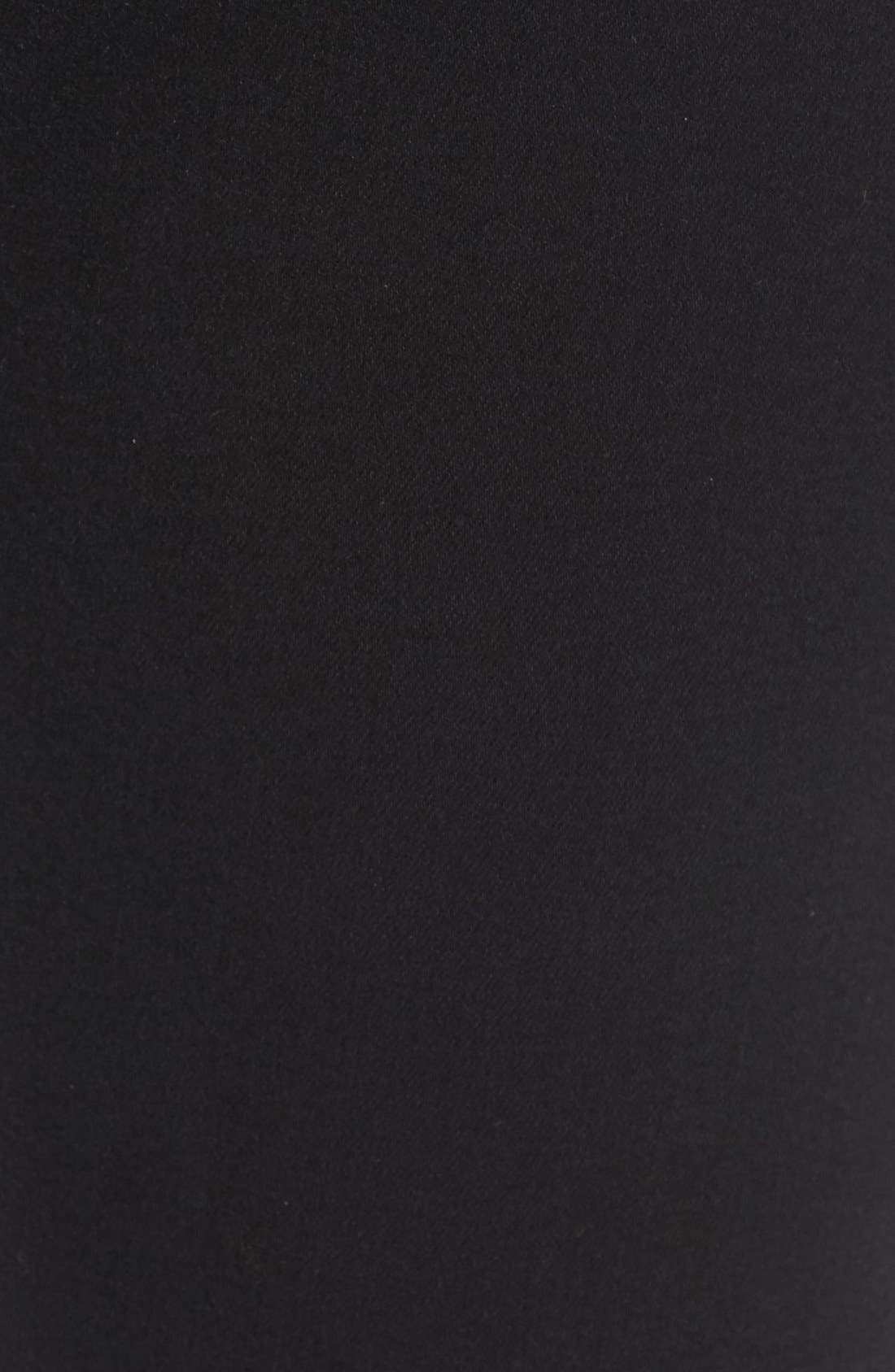 Tuxedo Stripe Skinny Jeans,                             Alternate thumbnail 5, color,                             Riche Touch Black Noir
