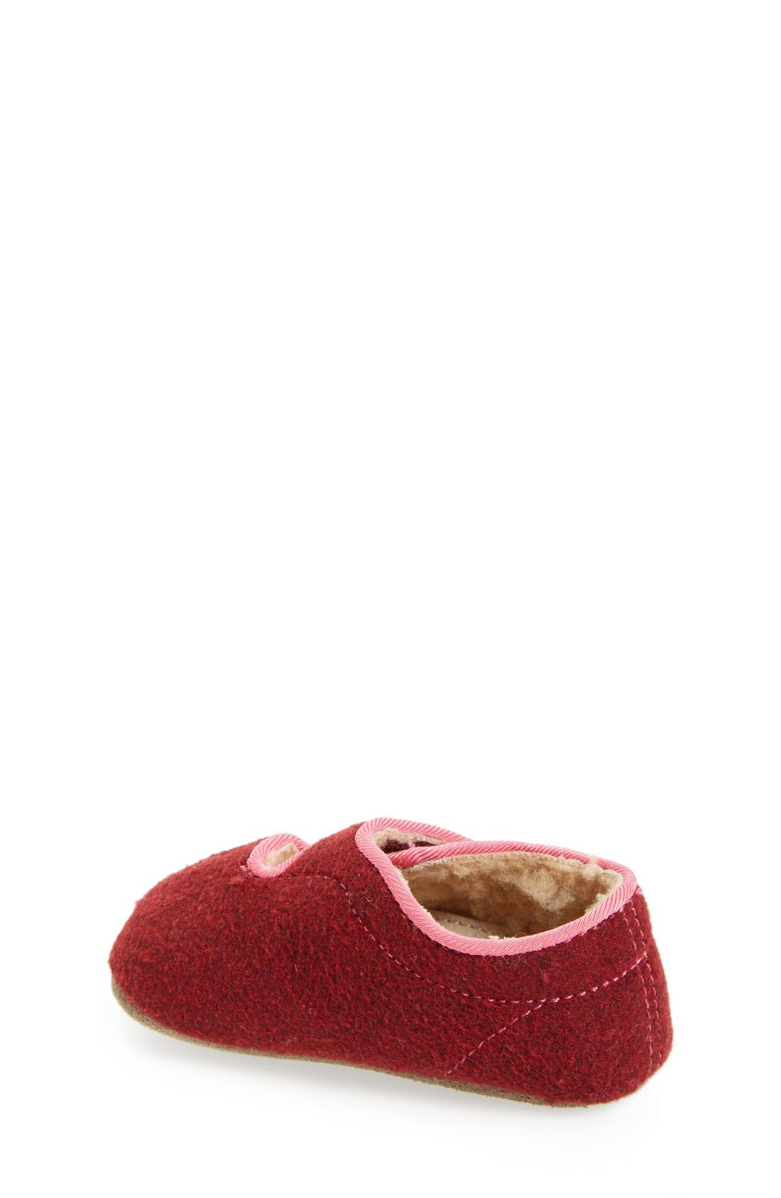Alternate Image 2  - See Kai Run Cruz Faux Shearling Crib Slipper (Baby)