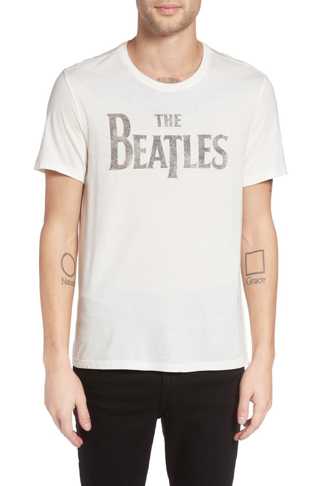 The Beatles Graphic Logo T-Shirt,                         Main,                         color, Salt