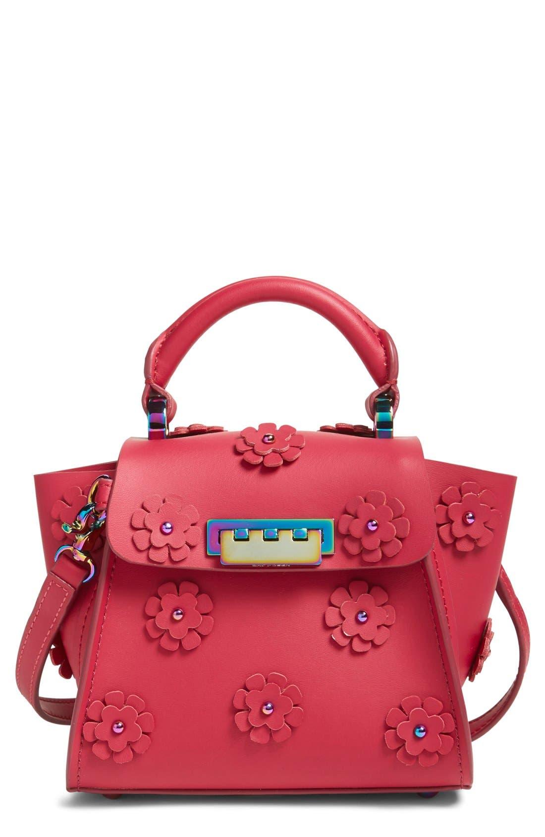 Mini Eartha Iconic Top Handle Leather Satchel,                         Main,                         color, Magenta