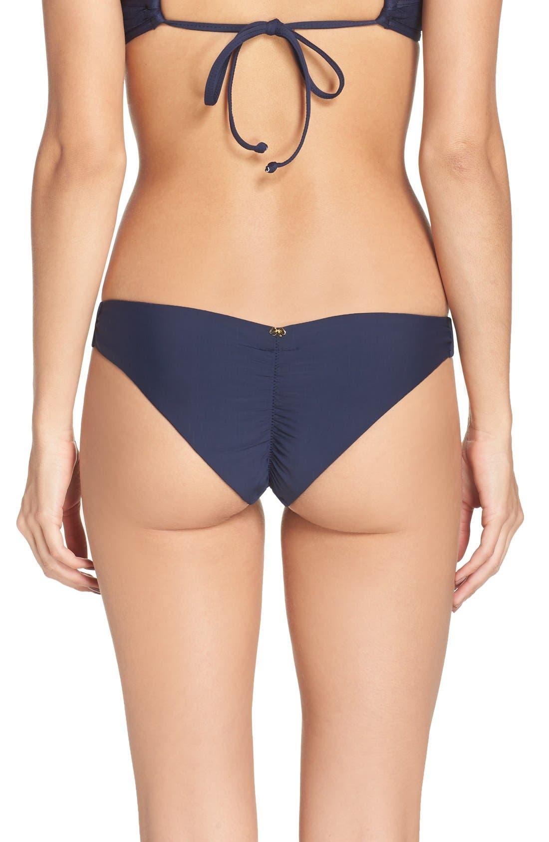 Main Image - PilyQ Ruched Bikini Bottoms